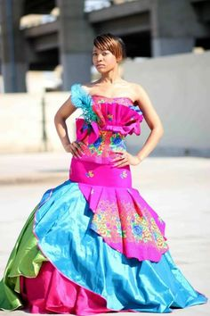 Antherline Couture,designed by Matome Seshoka. Traditional Wedding Attire, African Traditional Wedding, Traditional Outfits, African Wedding Attire, African Attire, African Dress, African Weddings, Tsonga Traditional Dresses, Traditional African Clothing
