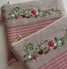 silk ribbon embroidery kits for beginners Embroidery Purse, Ribbon Embroidery Tutorial, Embroidery Patterns Free, Silk Ribbon Embroidery, Hand Embroidery Designs, Floral Embroidery, Embroidery Supplies, Embroidery Thread, Machine Embroidery