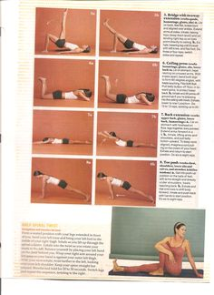 More Pilates moves with a spinal twist