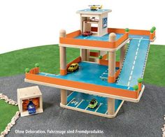Spielzeug Parkgarage Holz | D-Toy Spielzeug