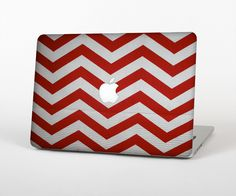 "The Red Vintage Chevron Pattern Skin Set for the Apple MacBook Pro 15"" with Retina Display from Design Skinz"
