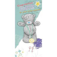 Grandson Exam Congratulations Me to You Bear Card £1.79