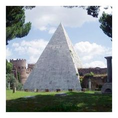 A bit of Egypt, ancient walls & pinetrees in Rome