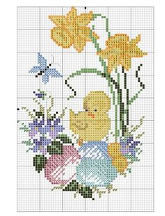 Cross Stitch Cards, Cross Stitch Baby, Cross Stitch Animals, Cross Stitch Flowers, Cross Stitching, Cross Stitch Embroidery, Embroidery Patterns, Cross Stitch Designs, Cross Stitch Patterns