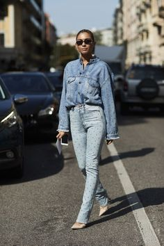 3355d58c600b Everything You Need for the Perfect Denim-on-Denim Outfit Milan Fashion  Week Street