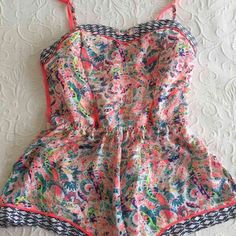 VS neon sleep romper This is a re-posh. Original seller only wore it a couple times. In absolute perfect condition. Super soft and adorable! Size small. Adjustable straps. Please no low balling on price. Victoria's Secret Intimates & Sleepwear Chemises & Slips