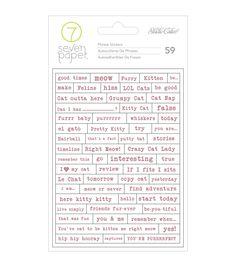 Studio Calico Seven Paper Baxter Cat Tiny Phrase Stickers