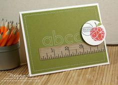 ABC Card by Nichole Heady for Papertrey Ink (July 2010)