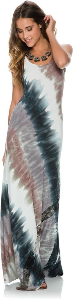 Michelle Jonas tie dye maxi dress.http://www.swell.com/New-Arrivals-Womens/MICHELLE-JONAS-LIZA-MAXI-DRESS?cs=MU