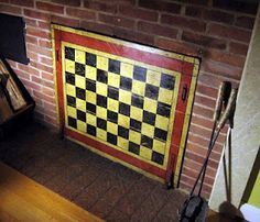 Iu0027ll Take A Different Painted Design, But Perfect To Cover Up That Fireplace  In His New Room!