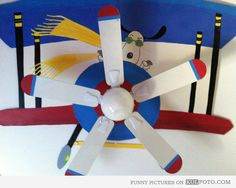 Snoopy plane ceiling fan - Beautiful and cute Snoopy in a plane drawing using the ceiling fan as the planes propeller.