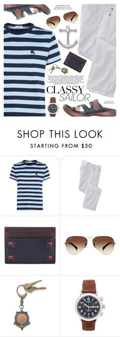 """""""Sailor"""" by regettacanoe ❤ liked on Polyvore featuring Burberry, TravelSmith, xO Design, Valentino, Ray-Ban, American Coin Treasures, Shinola, polyvoreeditorial and polyvoreset"""