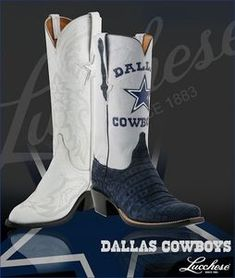 I'm only pinning this for the white boots that look like the DCC's. Cowboy Boot Cake, Blue Cowboy Boots, Cowboy Shoes, Cowboy Gear, Cowboy Outfits, Pink Boots, Western Boots, White Boots, Dallas Cowboys Boots