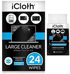 Amazon.com: iCloth Large Lens and Screen Cleaner Pro-Grade Individually Wrapped Wet Wipes, 1 Wipe Cleans a LCD Monitor, Laptop, or Flat Screen HDTV, Box of 24: Electronics Wet Wipe, Gifts For My Boyfriend, Lcd Monitor, Cleaning Wipes, Perfect Tv, Flat Screen, Lens, Laptop, Electronics