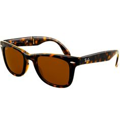 ray ban folding wayfarer sunglasses lite tort  ray ban folding wayfarer sunglasses (50f/light havana/grey lens) $133.95