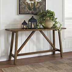 Altra Furniture Altra Bennington Console Table in Rustic 30x60x16