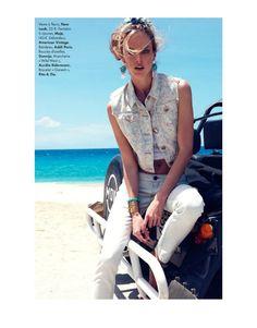 ShannanElle06 Shannan Click Dons Flirty Summer Looks for Elle France June 2012 by Nagi Sakai