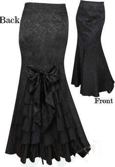 Victorian Waterfall Ruffle Bustle Skirt by Amber Middaugh -Save at Chicstar Coupon: Steampunk Fashion, Victorian Fashion, Gothic Fashion, Vintage Fashion, Bustle Skirt, Dress Skirt, Dress Up, Lace Skirt, African Wear