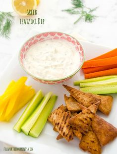 Greek Tzatziki Dip is creamy Greek yogurt with crisp, cool cucumber and fresh dill. It's the most versatile, coolest dip in town!