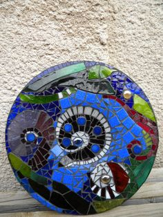 Glass plate covered by vitrage mosaic tiles by rasosmozaika, €27.00