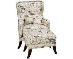 Simon Li-Hillsboro-Hillsboro Accent Chair and Ottoman - Jordan's Furniture