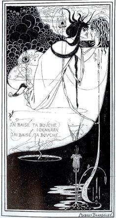 """Salome with the Head of John the Baptist"" Aubrey Beardsley ~ art nouveau"