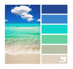Design Seeds, Colour Schemes, Color Combos, Beach Color Schemes, Paint Schemes, Pantone, Color Concept, Beach Color Palettes, Decoration Palette