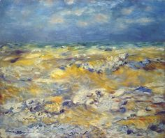 Seascape Near Berneval by Pierre-Auguste Renoir, 1879.