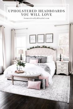 12 Neutral Upholstered Headboards You Will Love for your master bedroom or guest room. | Upholstered beds for your room. | neutral headboards for a calm bedroom. | Neutral bedroom decor inspiration with headboards for your master bedroom. | Guest room headboards that are neutral. | White bedroom with neutral furniture. | Neutral bedroom furnishing with a cream headboard. | White headboards, grey headboards, linen headboards, tan headboards, and storage beds.