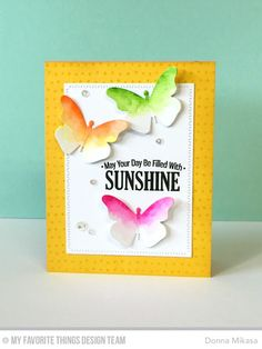 Today is the final day of My Favorite Things June Release Countdown, and all products will be available for purchase tomorrow at Butterfly Cards, Butterfly Wings, Butterfly Colors, Mft Stamps, Die Cut Cards, Diy Home Crafts, Pretty Cards, Beautiful Butterflies, Paper Crafting