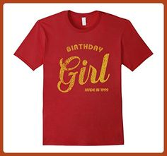 Mens 18th Birthday Girl Made in 1999 Shirt 18th Bday Gift Tee     3XL Cranberry - Birthday shirts (*Partner-Link)