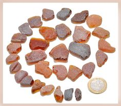 Authentic Seaglass Rare Hand Picked Frosted Amber by BeachBounty