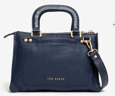 Ted Baker GAITORY Stab stitch leather tote bag