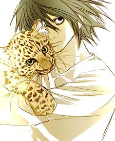 L with a leopard. Dunno what this is all about but it sure does look ADORABLE!