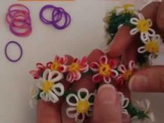 MonsterTail Daisy type Flower Charm Bracelet Turorial