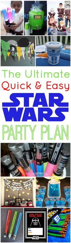 The Best Star Wars Party Ideas EVER! Free printables, games, food and decoration ideas that are super quick & easy! - Happiness is Homemade