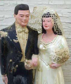 chalkware wedding couple