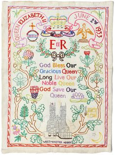 queen's coronation embroidery by maraid, via Flickr