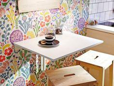 Una mesa plegable no resta apenas espacio