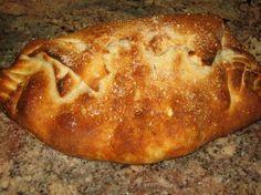Sausage and Pepperoni Cheese Stuffed Calzone | Genius Kitchen