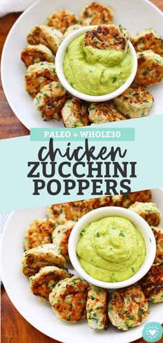 These Chicken Zucchini Poppers are squeaky clean, but not short on flavor! (Gluten free, paleo, & one of the most popular Whole30 recipes on the web!)