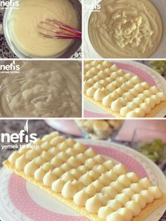 Full Size Pastry Cream - Köstliche Rezepte - New Ideas Pasta Recipes, Cake Recipes, Cooking Recipes, Good Food, Yummy Food, Wie Macht Man, Pastry Art, Food Words, Baking And Pastry