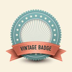 Vintage Badge Vector Graphic