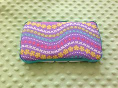 Easter-y travel baby wipes case