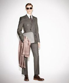Louis Vuitton Prince of Wales check slim suit for fall 2013.