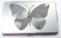 Butterfly Engraved Business Card Wallet Case Holder Patch Gift BUS-0440