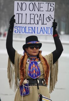 """""""No One Is Illegal on Stolen Land!""""  Photo credit: Does anyone know where this image was taken, when it was taken, or who took it?"""