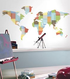 Down to Earth Wall Map Mural - Primary