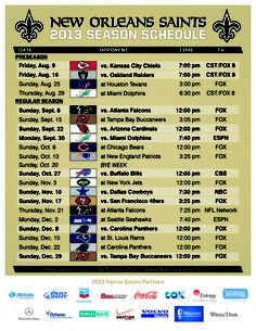 Click the image to read more about the Saints schedule!