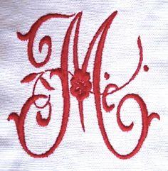 Beautiful Monogram M